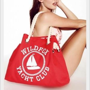 Wildfox Sail On Reversible Lobster Red  tote bag